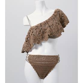 oneshoulder  Bandeau cup bikini L/BRN1