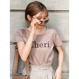 Cheri刺繍TーSH(2) L/BRN1