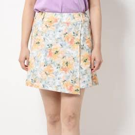 インクフラワーラップスカート風パンツ (OR)