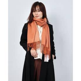 カシミヤストール (オレンジ/ベージュ)