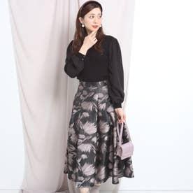 ジャガードタックスカート (薄ピンク)