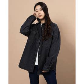レディース長袖シャツ(ブラック)
