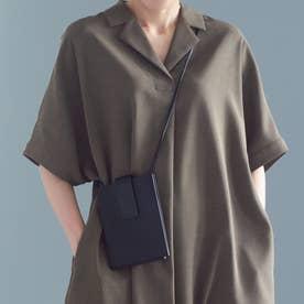 Leather mini shoulder bag BLK