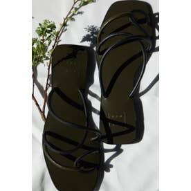 Rope cross heel sandal BLK
