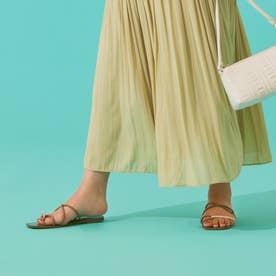 Rope cross heel sandal BEG