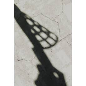 Lattice pattern sandal BLK