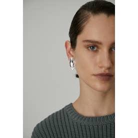 Melting texture earring SLV