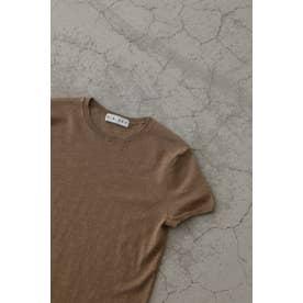 Compact melange knit T/SH BEG