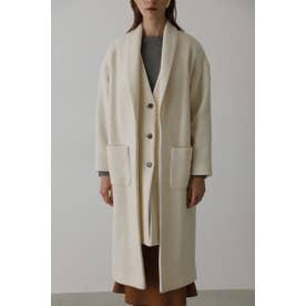 Layered style long coat O/WHT1