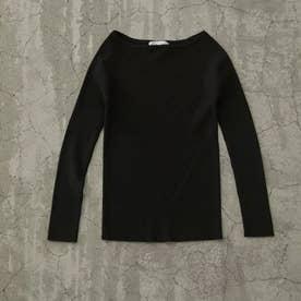 Boat neck basic knit BLK