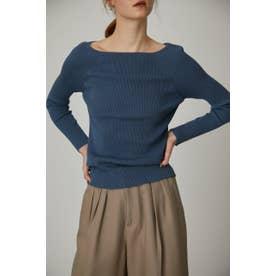 Boat neck basic knit BLU
