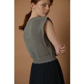 Lace pattern knit dress GRY