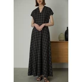 Noble line classical dress 柄BLK5