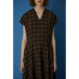 Noble line classical dress 柄BRN5