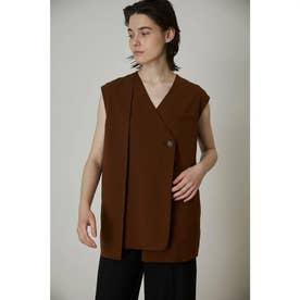 Front tuck box vest BRN