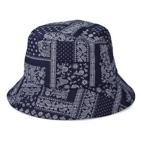 BANDANA BUCKET HAT (NAVY)