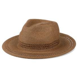 PAPER LONG BRIM HAT (BROWN)