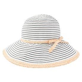 BORDER RAFFIA HAT (BLACK)