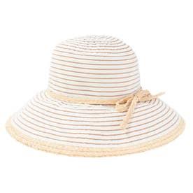 BORDER RAFFIA HAT (BEIGE)