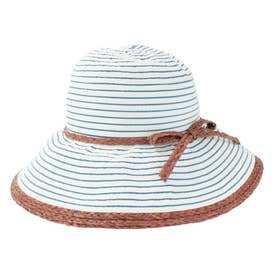 BORDER RAFFIA HAT (NAVY)