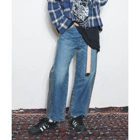 2トーンカーブシームパンツ (ブルー/ブラック)