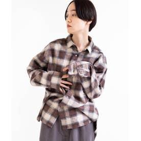 チェックビッグシャツ (ブラウンチェック)