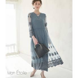 【一部店舗限定】【Mon E'toile】【結婚式にも】【2WAY】レースガウンサロペット (ブルー系(47))
