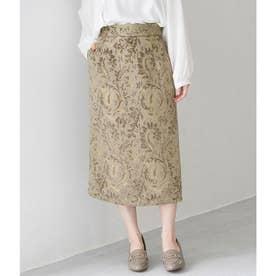 ジャガードアイラインスカート (モスグリーン(32))