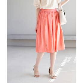 【着丈が選べる】タックベルトサップギャザースカート (ピンク系(65))