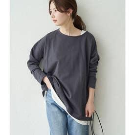 【WEB限定】【ORGABITS】ビッグシルエットロングTシャツ (チャコール(06))