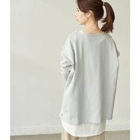 【WEB限定】【ORGABITS】ビッグシルエットロングTシャツ (サックス(48))