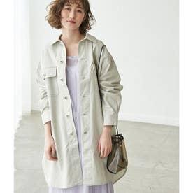 カラーデニムシャツジャケット (グレー系(09))
