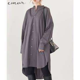 【emur】バックツイストロングシャツ (チャコール(06))