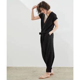 裾絞りジャンプスーツ (ブラック(01))
