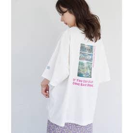 【漁港の肉子ちゃん× ROP- PICNIC】コラボTシャツ (ホワイト系(12))