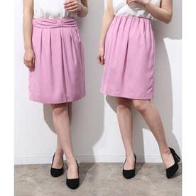 【2WAY】ギャザーリボンスカート (ピンク(63))