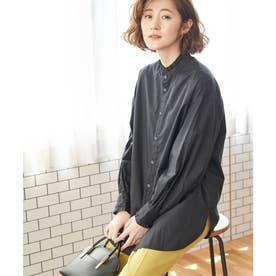 フリルバンドカラーシャツ (ブラック(01))