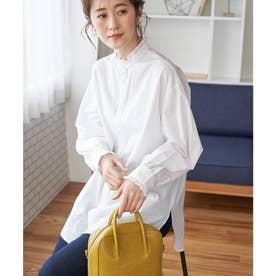 フリルバンドカラーシャツ (ホワイト(10))
