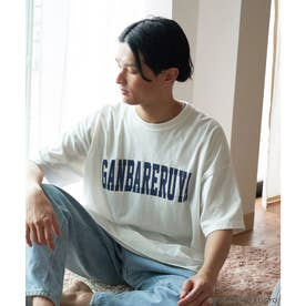 【ガンバレルーヤ×ROPE' PICNIC】カレッジロゴBIG Tシャツ (ホワイト(10))