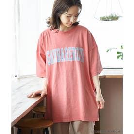 【ガンバレルーヤ×ROPE' PICNIC】カレッジロゴBIG Tシャツ (ピンク(63))