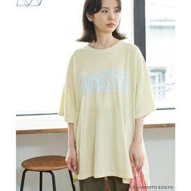 【ガンバレルーヤ×ROPE' PICNIC】カレッジロゴBIG Tシャツ (イエロー(80))