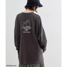 【miffy×ROPE' PICNIC】アソートロングTシャツ (チャコール(06))
