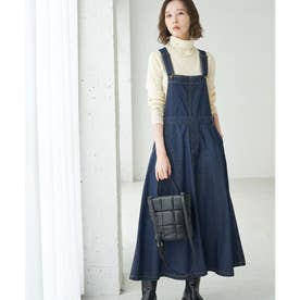 【WEB限定】デニムジャンパースカート (ネイビー(40))
