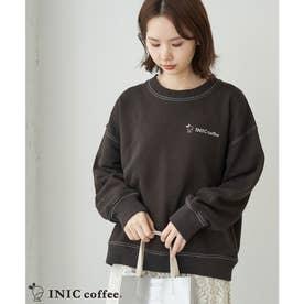 【INIC Coffee×ROPE' PICNIC】裏毛トップス (チャコール(06))