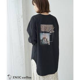 【INIC Coffee×ROPE' PICNIC】ロングTシャツ (ブラック(01))
