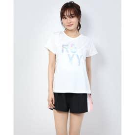 レディース フィットネス 半袖Tシャツ SEA YOU SOON RST204529 (ホワイト)