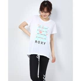 レディース フィットネス 半袖Tシャツ GET INSPIRED BY ACTIVE LIFE RST204524 (ホワイト)