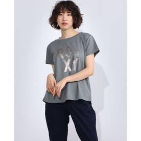レディース フィットネス 半袖Tシャツ SEA YOU SOON RST204529 (グレー)