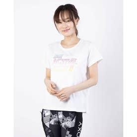 レディース フィットネス 半袖Tシャツ BE ACTIVE RST211531 (ホワイト)