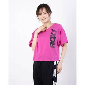 レディース フィットネス 半袖Tシャツ LEAP S/S TEE RST211558 (ピンク)
